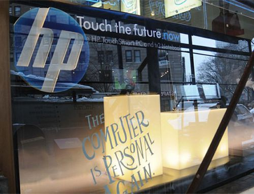 HP Touch New York Retail Graphics